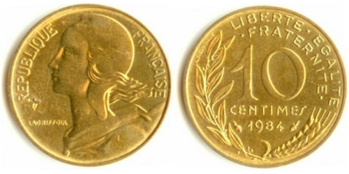 10 сантимов 1984 Франция