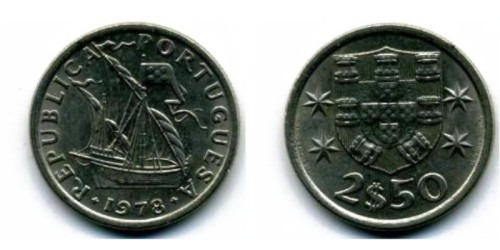 2.5 эскудо 1978 Португалия