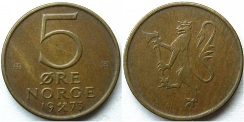 5 эре 1973 Норвегия