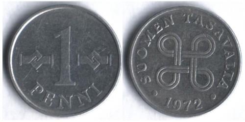 1 пенни 1972 Финляндия (алюминий)