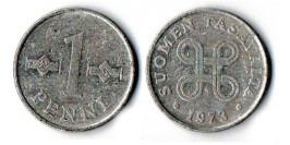 1 пенни 1973 Финляндия (алюминий)