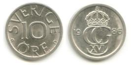10 эре 1986 Швеция
