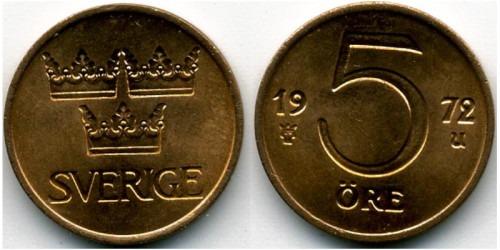 5 эре 1972 Швеция