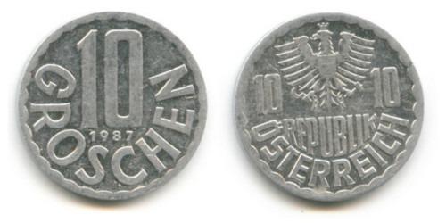 10 грошей 1987 Австрия