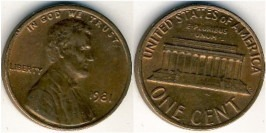 1 цент 1981 США
