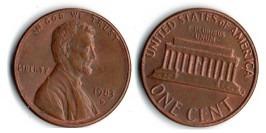 1 цент 1983 D США
