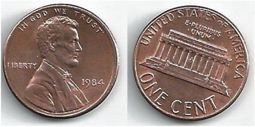 1 цент 1984 США