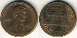 1 цент 1987 США