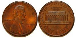 1 цент 1991 США