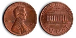 1 цент 1992 США