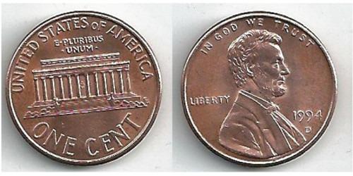 1 цент 1994 D США