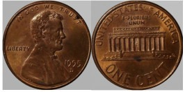 1 цент 1995 D США