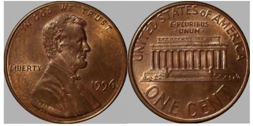 1 цент 1996 США