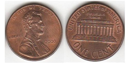 1 цент 2000 США