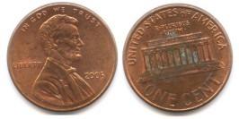 1 цент 2005 США