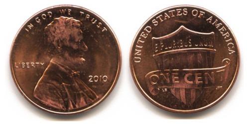 1 цент 2010 США