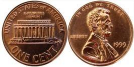 1 цент 1999 США
