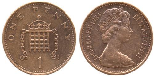 1 пенни 1984 Великобритания