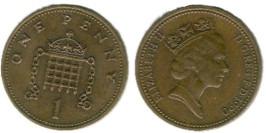 1 пенни 1990 Великобритания