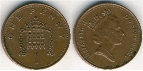 1 пенни 1993 Великобритания