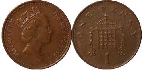 1 пенни 1997 Великобритания