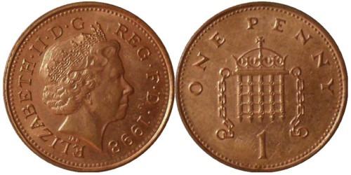 1 новый пенни 1998 Великобритания