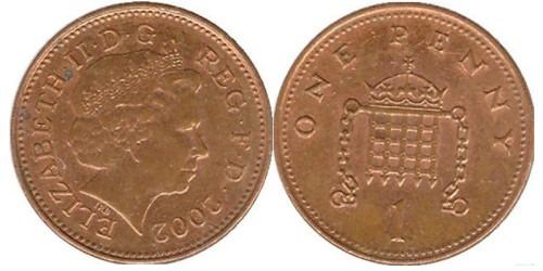 1 пенни 2002 Великобритания