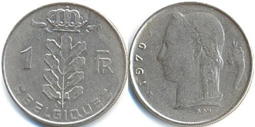 1 франк 1970 Бельгия (FR)