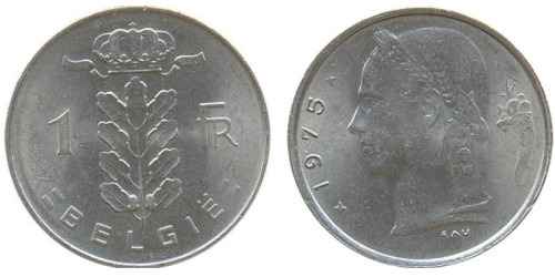 1 франк 1975 Бельгия (VL)