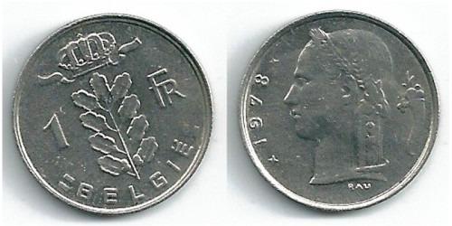 1 франк 1978 Бельгия (VL)