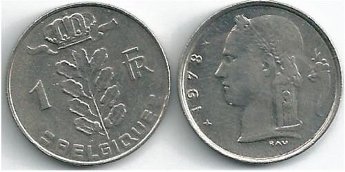 1 франк 1978 Бельгия (FR)