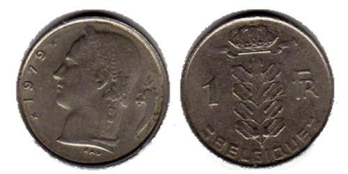 1 франк 1979 Бельгия (FR)