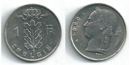 1 франк 1980 Бельгия (VL)