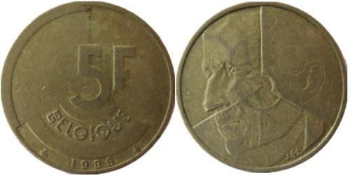 5 франков 1986 Бельгия (FR)