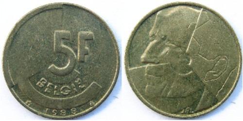 5 франков 1988 Бельгия (VL)
