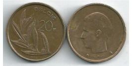 20 франков 1982 Бельгия (VL)