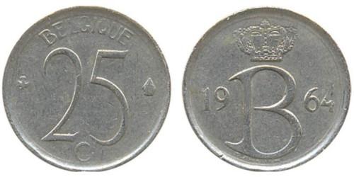 25 сантимов 1964 Бельгия (FR)