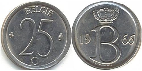 25 сантимов 1966 Бельгия (VL)