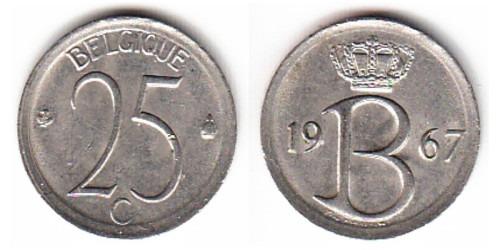 25 сантимов 1967 Бельгия (FR)