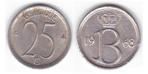 25 сантимов 1968 Бельгия (FR)