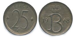 25 сантимов 1968 Бельгия (VL)