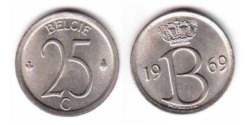 25 сантимов 1969 Бельгия (VL)