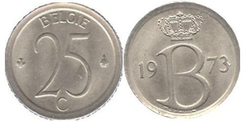 25 сантимов 1973 Бельгия (VL)