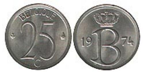 25 сантимов 1974 Бельгия (FR)