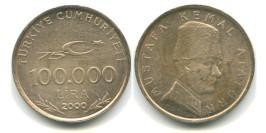 100000 лир 2000 Турция