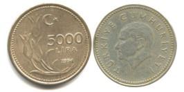 5000 лир 1994 Турция