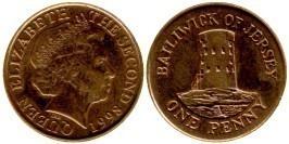 1 пенни 1998 остров Джерси