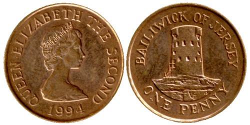 1 пенни 1994 остров Джерси