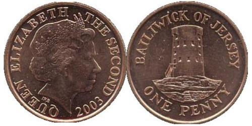 1 пенни 2003 остров Джерси