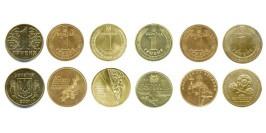 1 гривна Украина — набор из 6-ти монет